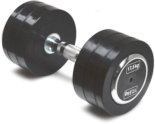 Body-Solid Pro Style Rubber Dumbells - 17.5 kg