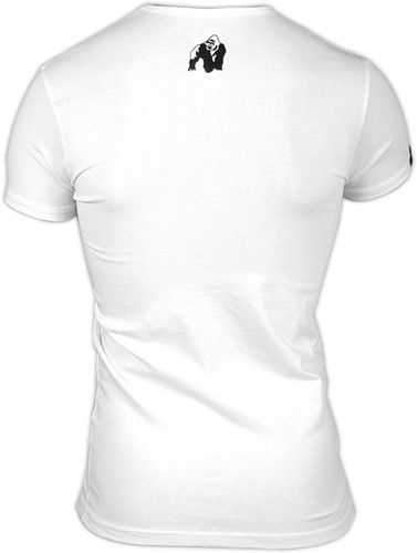 Gorilla Wear Essential V-Neck T-Shirt - White-2