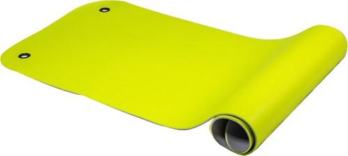 Reha Fit Fitnessmat - Yogamat - 180 x 65 x 0,8 cm - Limoen/Grijs