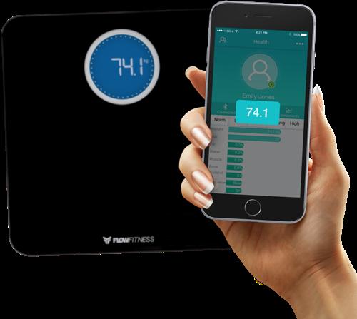 Flow Fitness Bluetooth Smart Scale Weegschaal-3