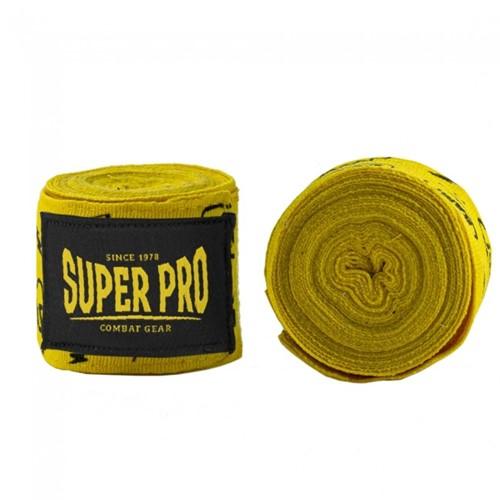 Super Pro Combat Gear Semi-Elastische Bandages - Pang/Paw Geel - 300 cm