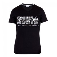 Gorilla Wear Sacramento V-Neck T-Shirt - Black/White-1
