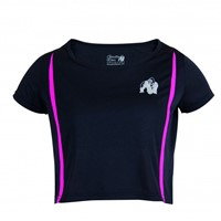 Gorilla Wear Columbia Crop Top Black/Pink-1
