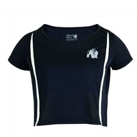 Gorilla Wear Columbia Crop Top - Black/White-1