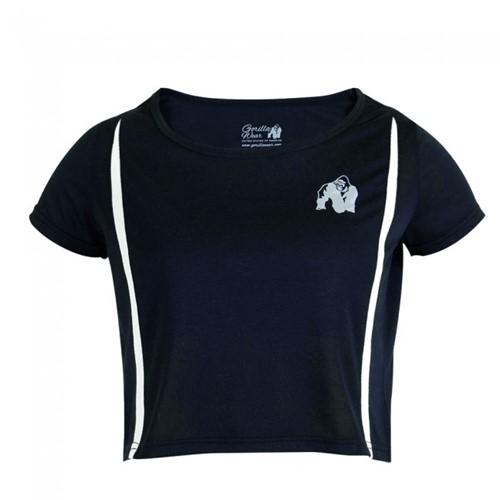 Gorilla Wear Columbia Crop Top - Black/White