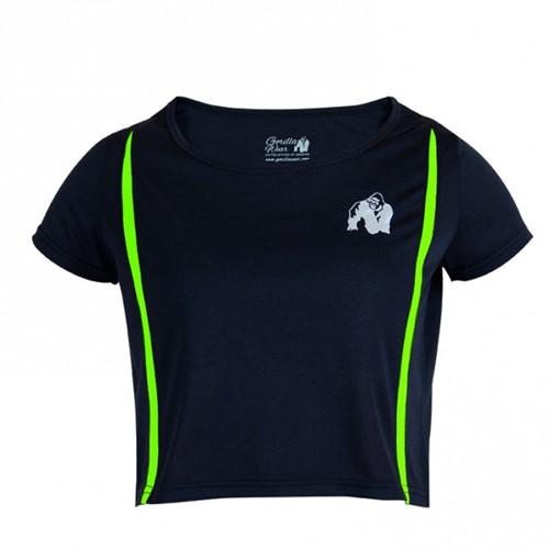Gorilla Wear Columbia Crop Top Black/Neon Lime