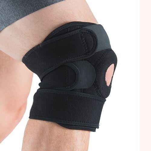Deze elastische kniebrace van gymstick ondersteunt en stabiliseert je knie en helpt de belasting op je knie ...