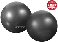 Gymstick yoga ballen 2x 1kg met work- out DVD-1