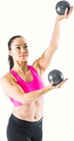 Gymstick yoga ballen 2x 1kg met work- out DVD-3