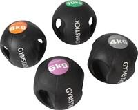 Gymstick medicijnbal met handvaten - 10 kg - Licht Verkleurd - Verpakking ontbreekt-2