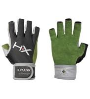 Harbinger Men's X3 Competition Open Finger Crossfit Fitness Handschoenen WristWrap Green/Gray/Black