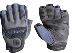 Harbinger Big Grip Fitness Handschoenen - Charcoal-Steel Blue