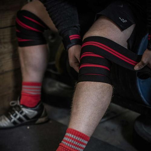 Harbinger Red line knee wraps-2