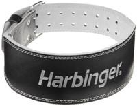 Harbinger 4 Inch Padded Leather Belt - Silver Printed-1