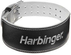 Harbinger 4 Inch Padded Leather Belt - Silver Printed