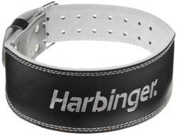 Harbinger 4 Inch Padded Leather Belt - Silver Printed