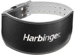 Harbinger 6 Inch Padded Leather Belt - Silver Printed