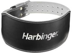 Harbinger 6 Inch Padded Leather Belt - Silver Printed