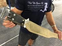 Harbinger 4 Inch Padded Leather Belt - Silver Printed-3