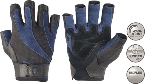 Harbinger Men's BioFlex Fitness Handschoenen - Zwart/Blauw - XXL
