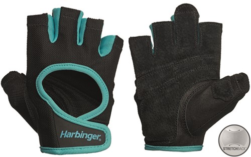 Harbinger Women's Power Stretchback Fitness Handschoenen - Zwart/Blauw