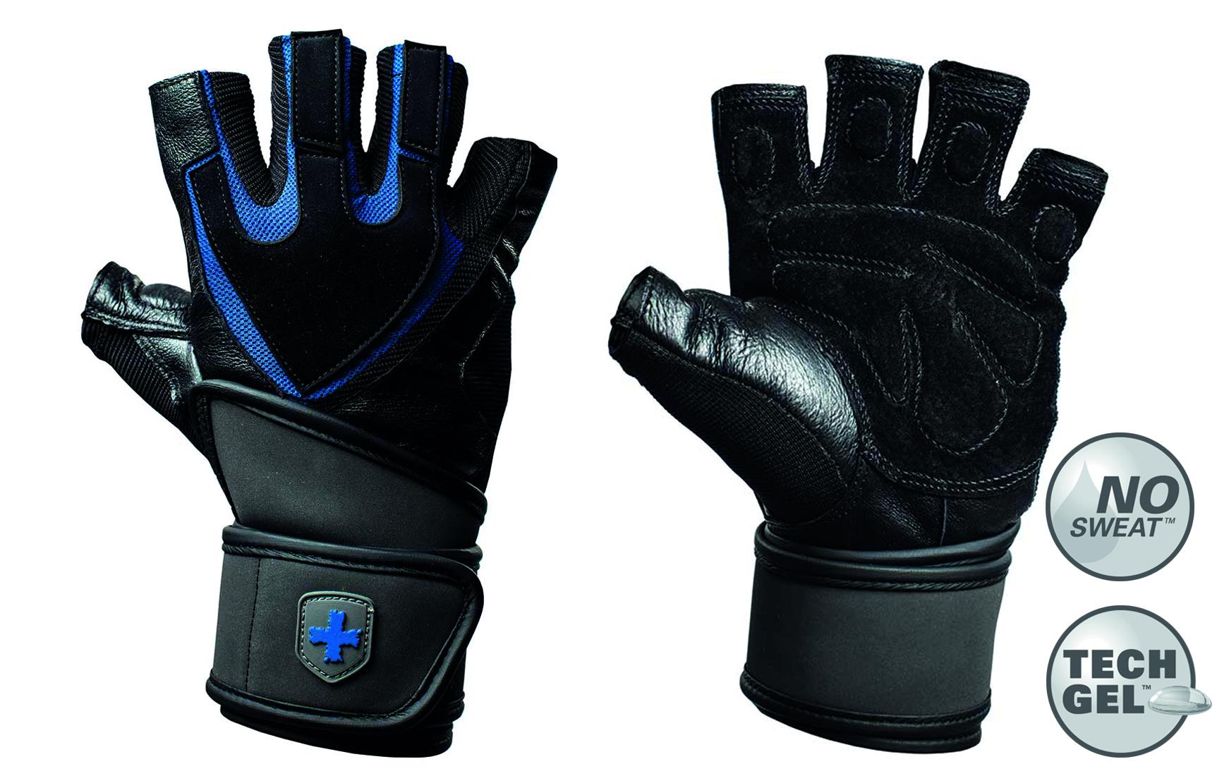 Harbinger Training Grip Gloves Black-Blue XL
