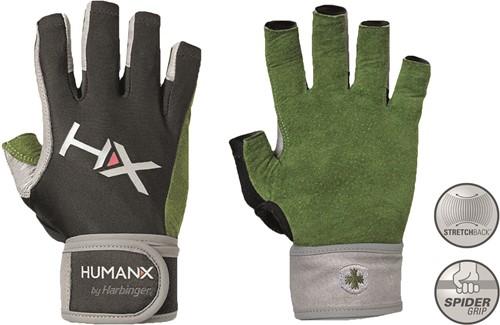 Harbinger Men's X3 Competition Crossfit Fitness Handschoenen met Wrist Wrap - Groen/Grijs/Zwart