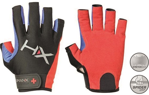 Harbinger Men's X3 Competition Crossfit Fitness Handschoenen - Rood/Blauw/Zwart