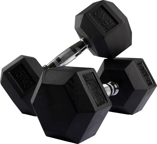 VirtuFit Hexa Dumbell - 15 kg - Per Stuk-2