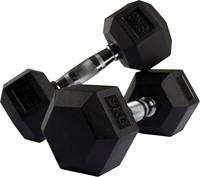 VirtuFit Hexa Dumbell - 8 kg - Per Stuk-2