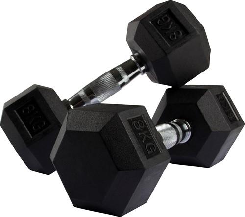 VirtuFit Hexa Dumbell - 8 kg - Per Stuk