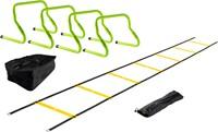 VirtuFit Combideal: 4 Verstelbare Horden + Tas + Speed Ladder-1