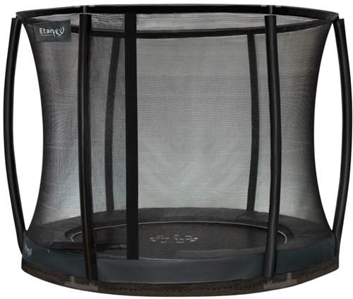 Etan Premium Gold Combi DeluxeInground Trampoline met Veiligheidsnet - 244 cm - Grijs