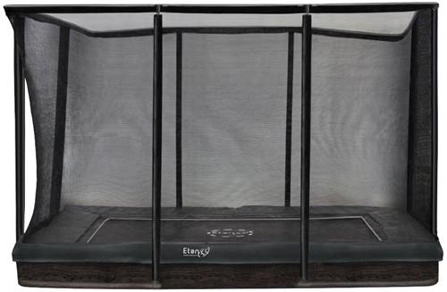 Etan Premium Gold CombiInground Trampoline met Veiligheidsnet - 310 x 232 cm - Grijs