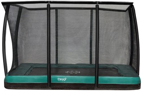 Etan Premium Gold Combi DeluxeInground Trampoline met Veiligheidsnet - 310 x 232 cm - Groen