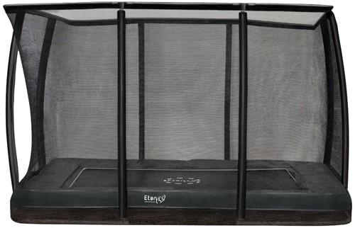 Etan Premium Gold Combi DeluxeInground Trampoline met Veiligheidsnet - 310 x 232 cm - Grijs