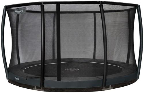 Etan Premium Gold Combi DeluxeInground Trampoline met Veiligheidsnet - 427 cm - Grijs