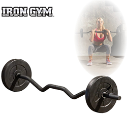 Iron Gym 23kg adjustable all in one curl bar set - 25mm