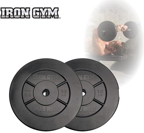 Iron Gym 20 kg Schijven Set, 2 x 10 kg - 25 mm