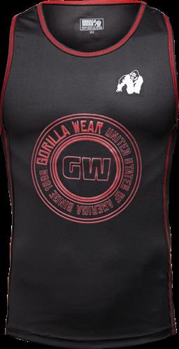 Gorilla Wear Kenwood Tank Top - Zwart/Rood