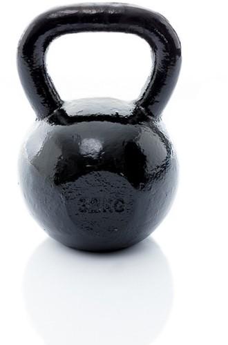 Muscle Power Gietijzeren Kettlebell - Zwart - 32 kg
