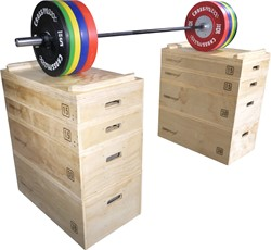 Lifemaxx Crossmax Wooden Jerk Block Set
