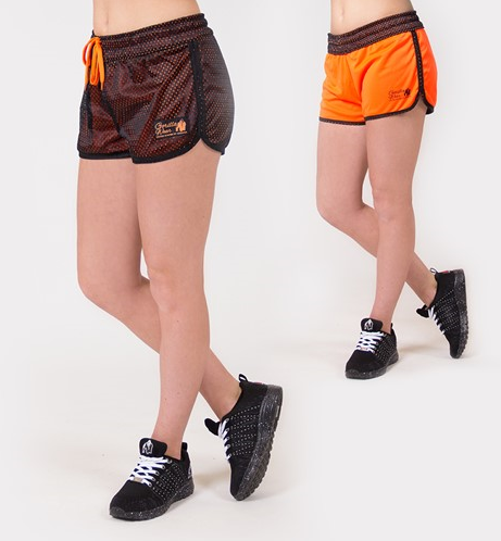 Gorilla Wear Madison Reversible Shorts - Zwart/Neon Oranje