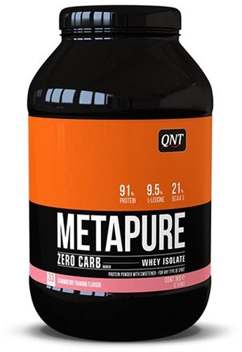 QNT Zero Carb Metapure - 1000g - Strawberry Banana