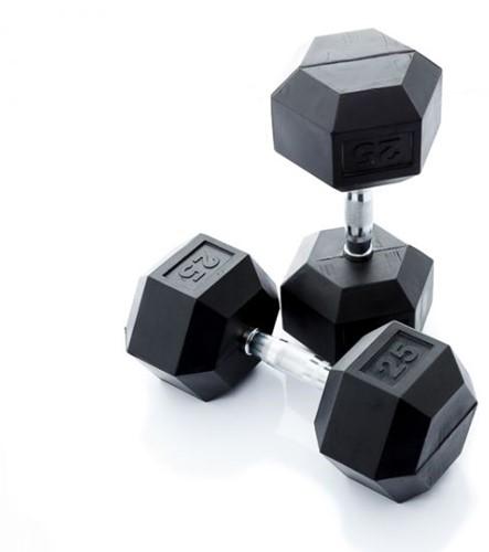 Muscle Power Hexa Dumbbell - 25 kg - Per Stuk