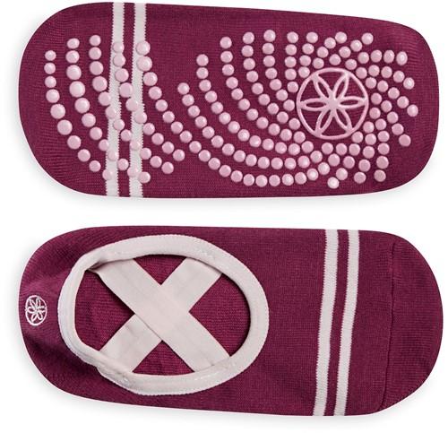 Gaiam Grippy Yoga Barre Socks - Anti-slip Yogasokken - Mulberry