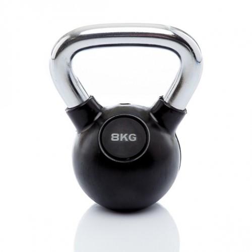 Muscle Power Rubberen Kettlebell - 8 kg