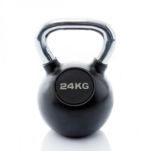 Muscle Power Rubberen Kettlebell - Zwart - 24 kg