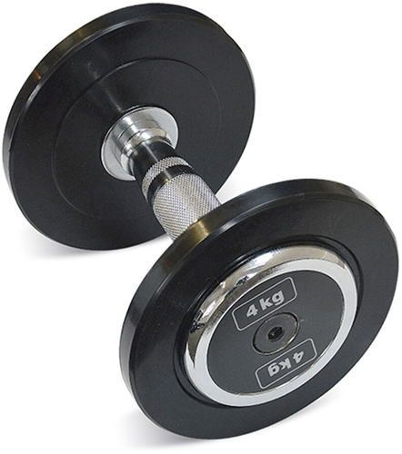 Body-Solid Pro Style Rubber Dumbells - 4 kg
