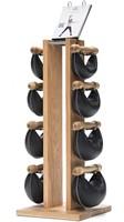 Nohrd Swing Bell Toren Set - Natural Oak - 2-4-6-8 kg
